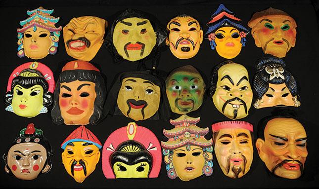 Masks by Roger Shimomura