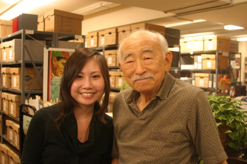 Nancy Ng Tam and George Yuzawa smile at the camera