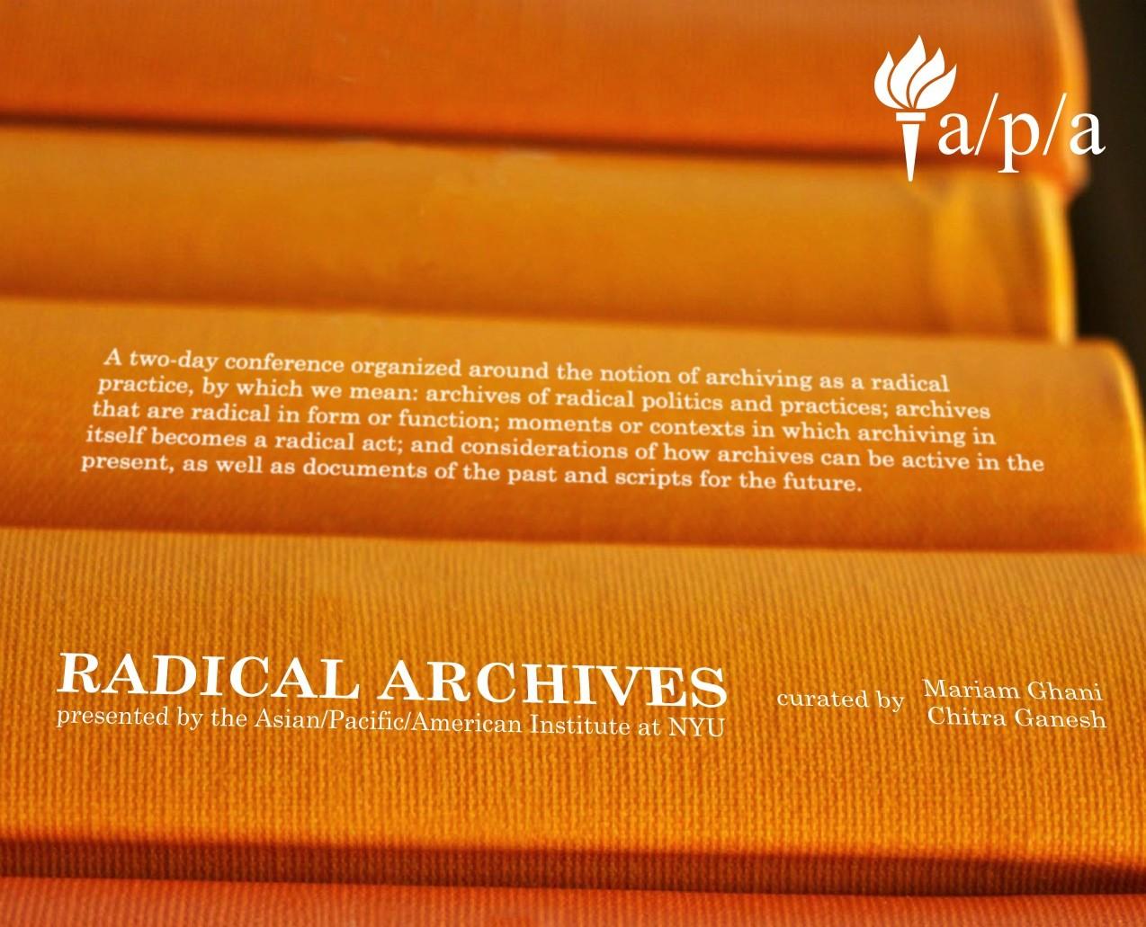 Radical Archives Spring 2014 flyer