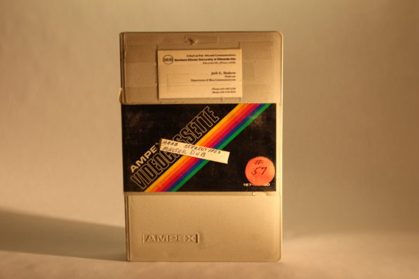 """Photograph of a video cassette entitled, """"Arab Stereotypes Master Dub"""""""