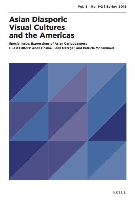 Cover of the Spring 2019 issue of ADVA. It features a white background and triangles in different shades of blue and purple, all arranged in a rectangle.