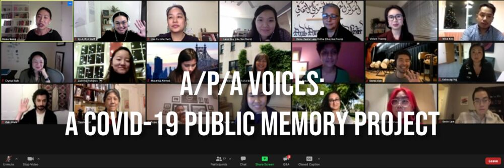 Screenshot of Zoom call with A/P/A Voices Volunteers